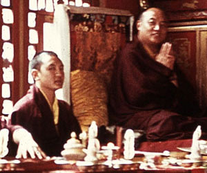 His Holiness the 16th Karmapa and the 14th Künzig Shamar Rinpoche