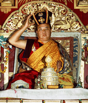 16th Karmapa performing the Black Crown ceremony