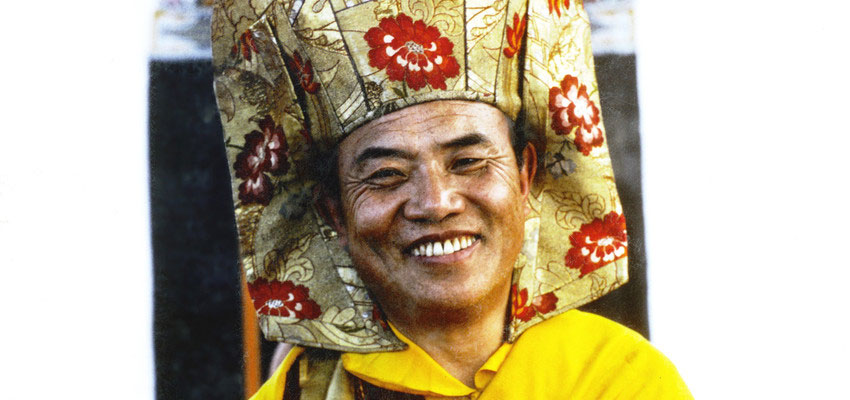 HH the 16th Karmapa 16th Karmapa with Gampopa Hat