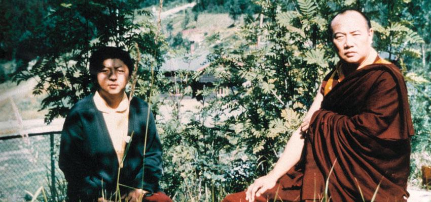 HH the 16th Karmapa Rangjung Rigpe Dorje (right) with Jigme Rinpoche
