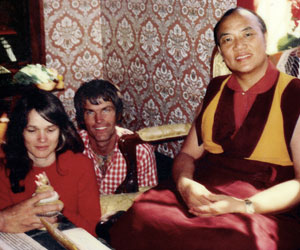 16th Karmapa in Copenhagen with Lama Ole and Hannah Nydahl