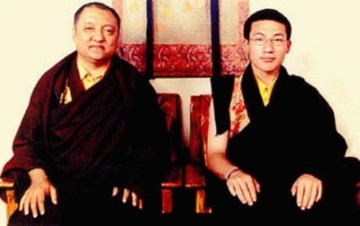 14th Shamarpa with the 17th Karmapa