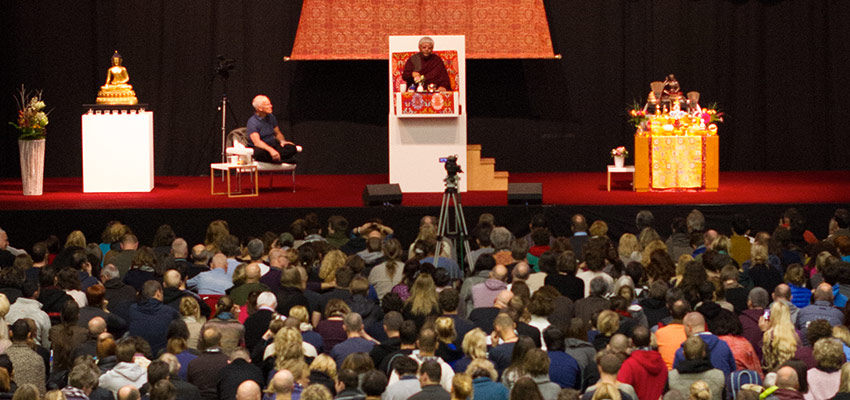 Jigme Rinpoche giving an empowerment in Hamburg Germany.