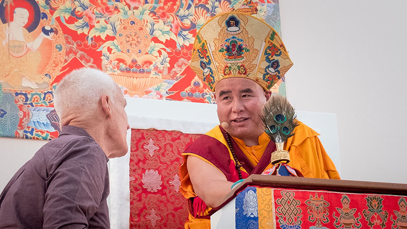 Lopon Dorji Rinchen and Lama Ole Nydahl at the Europe Center near Immenstadt