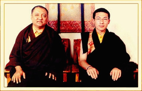 The 14th Shamar Rinpoche with the 17th Karmapa