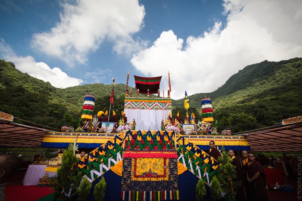Shamar Rinpoche's cremation
