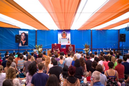 Lama Ole Nydahl teaching Buddhism in Peru - Lima, April 2013