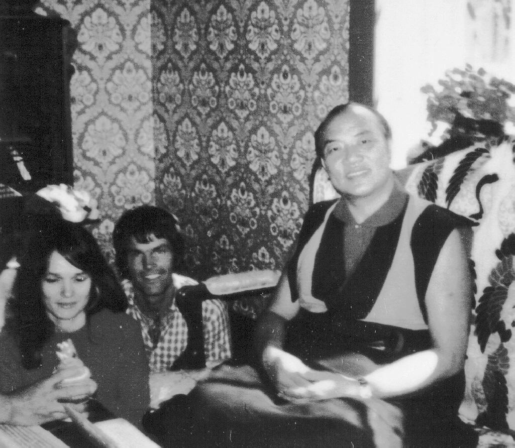 Lama Ole and his wife Hannah Nydahl with the 16th Karmapa
