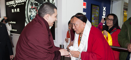 The 17th Karmapa and Pewar Rinpoche