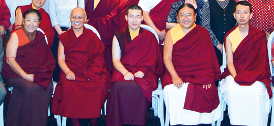 Luding Kenchen Rinpoche, the 17th Karmapa, and Sakya Trizin Rinpoche