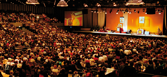 The 17th Karmapa in Dusseldorf in 2000