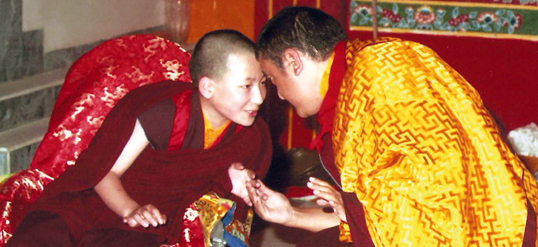 The 17th Karmapa with Shamar Rinpoche in KIBI, 1994