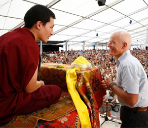 17th Karmapa and Lama Ole Nydahl at the EuropeCenter in Immenstadt