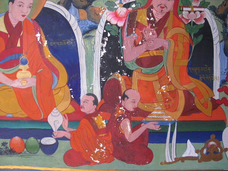 Restoring Buddhist frescoes in the Copenhagen meditation hall