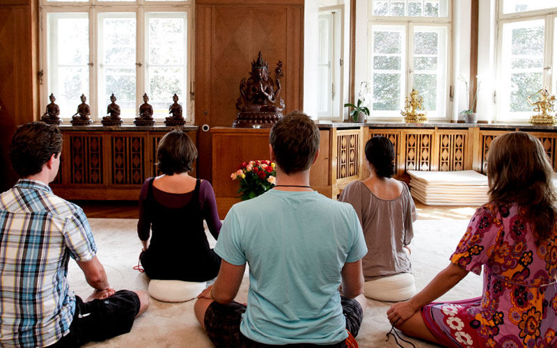 Meditation at the Europe Center in Immenstadt
