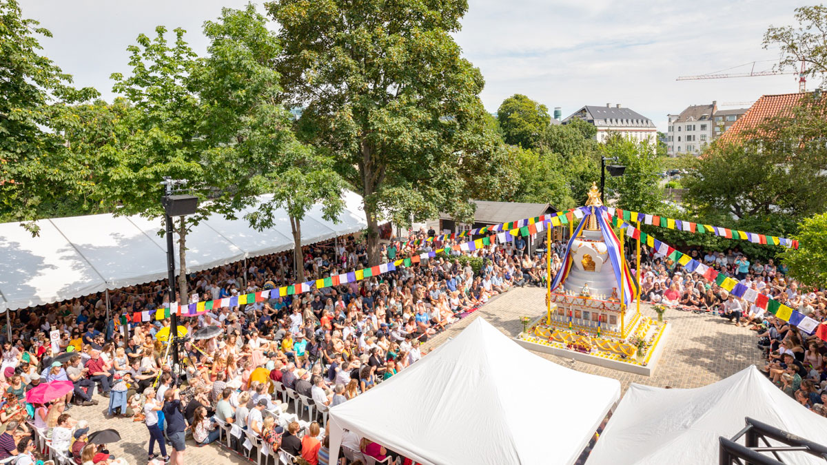 Inauguration of the Victory Stupa at the Copenhagen Buddhist Center