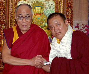 On the 13th of August, 2010, Shamar Rinpoche met His Holiness the Dalai Lama for a detailed exchange of views regarding the ongoing Karmapa controversy and its possible solution.