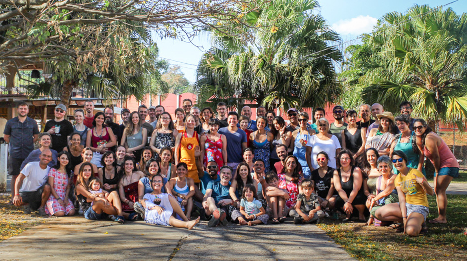 Meditating together in Costa Rica at the Americas Course 2020