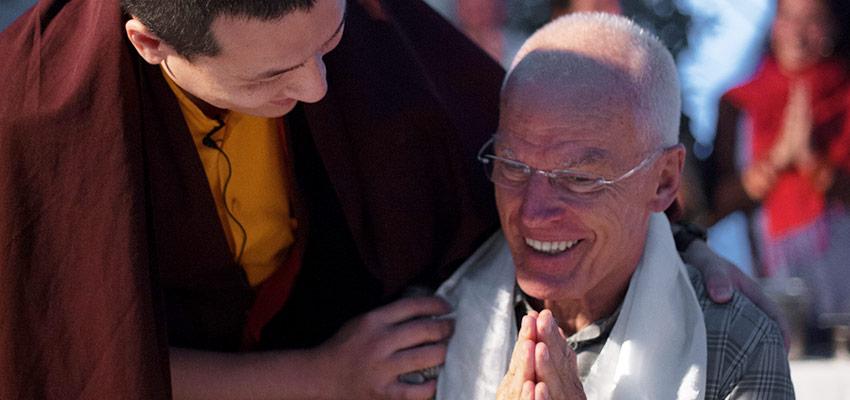 Thaye Dorje, HH the 17th Karmapa, with Lama Ole Nydahl