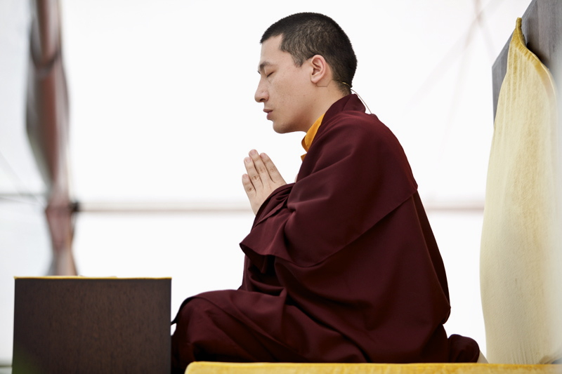 Karmapa Trinley Thaye Dorje at the Europe Centre meditation course in 2012