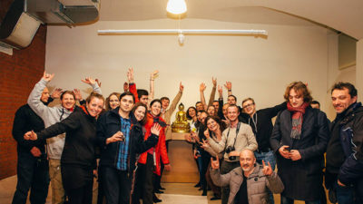 Celebrating our new center in Moscow!