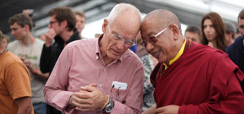 Sherab Gyaltsen Rinpoche with Lama Ole Nydahl