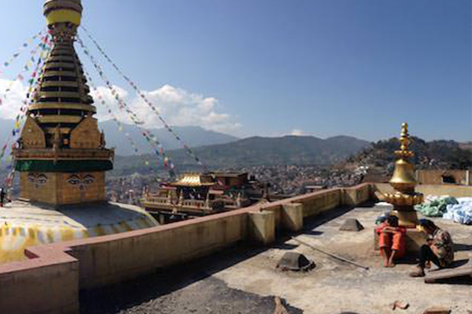 Karmapa's Swayambhu monastery renovation project