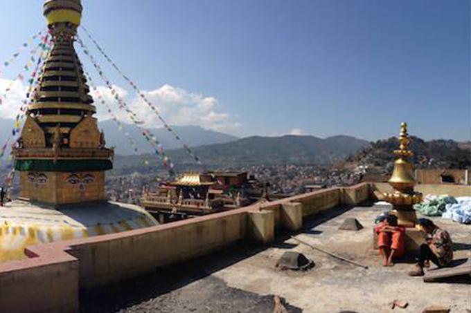 Karmapa's Swayambhu monastery renovation project