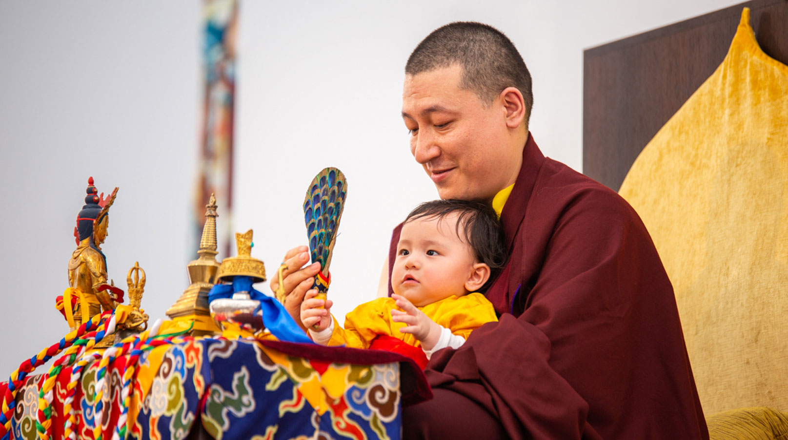 Karmapa and Thugseyla arrive at the Europe Center in Immenstadt