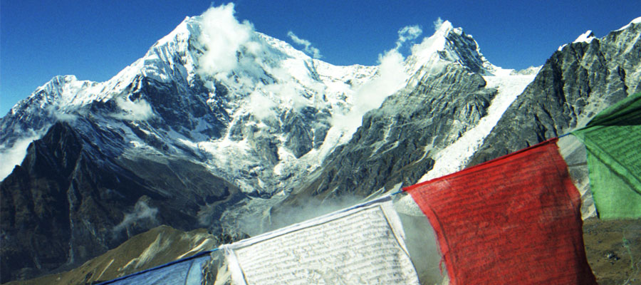 Tibetan Buddhism: Prayer Flags in the Mountains