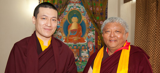 The 17th Karmapa and Lama Jigme Rinpoche