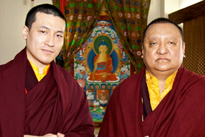 HH Karmapa and Shamar Rinpoche (1952-2014)
