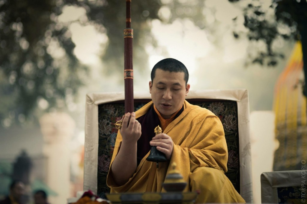Karmapa Thaye Dorje at the annual Kagyu Monlam