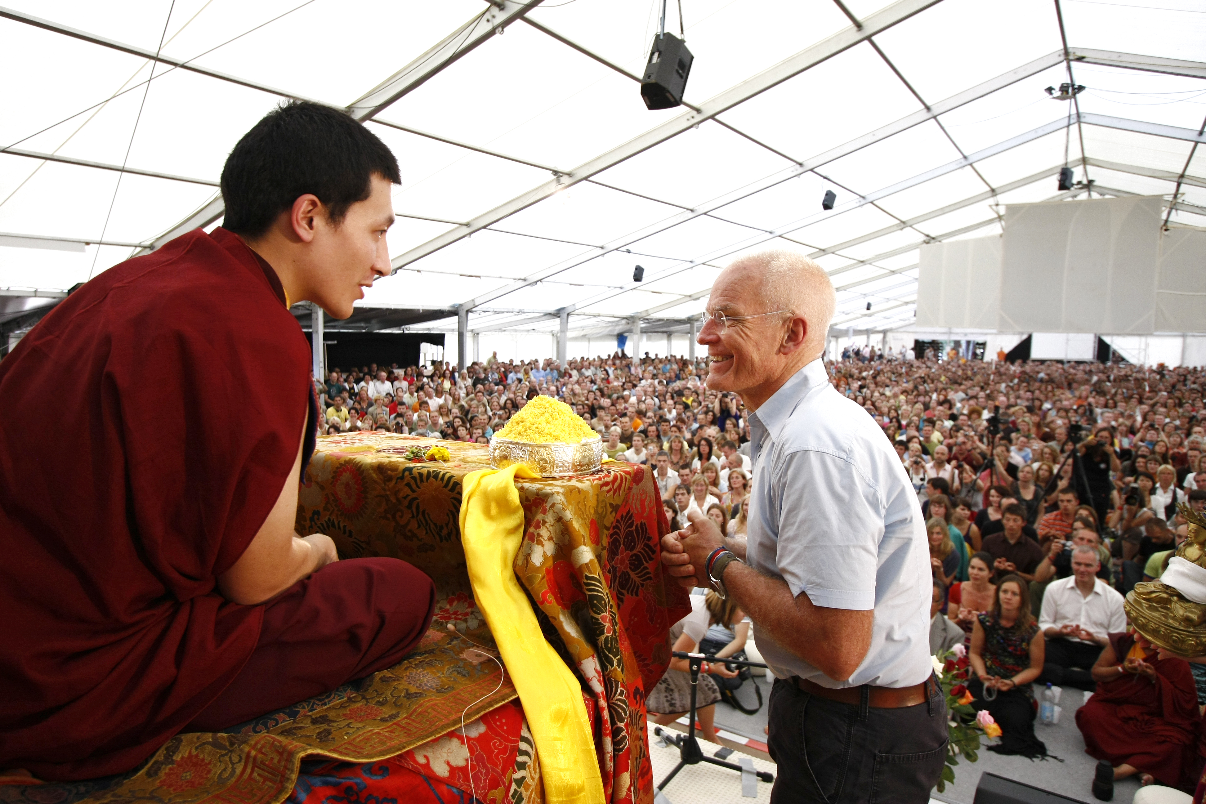 Lama Ole with the 17th Karmapa