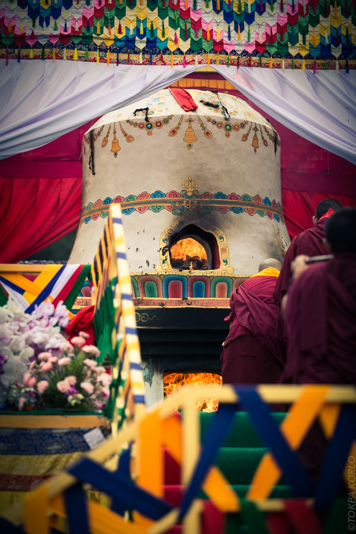 Cremation Ceremony of Shamar Rinpoche