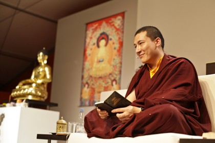 H.H. 17th Karmapa teaching on meditation on the teacher at the EC 2012